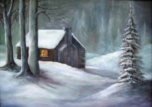 Cabin in the Woods (oil painting) IMG_0560